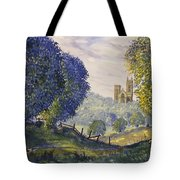 Bridlington Priory From Woldgate On The Hockney Trail Tote Bag