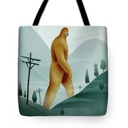 Brief Encounter With The Tall Man Tote Bag