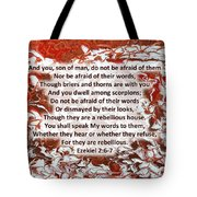Briers And Thorns With Scripture Tote Bag