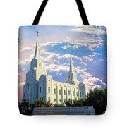 Brigham City Utah Temple Tote Bag