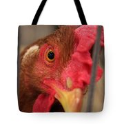 Bright And Colorful Chicken Who Are You Tote Bag