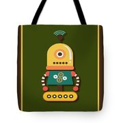 Bright And Colorful Robot Toy Tote Bag