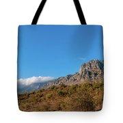 Bright Autumn Panorama Demerji Crimea Peninsula Tote Bag