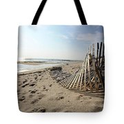Bright Beach Morning Tote Bag