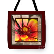 Bright Blanket Flower With Design Tote Bag