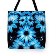Bright Blue Daisies Tote Bag