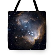 Bright Blue Newborn Stars Blast A Hole Tote Bag