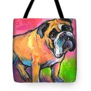 Bright Bulldog Portrait Painting  Tote Bag