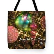 Bright Christmas Card Tote Bag
