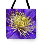 Bright Clematis Center Tote Bag
