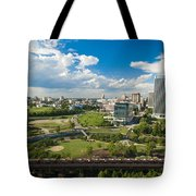 Bright Clouds In Downtown Richmond Va Tote Bag