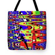 Bright Color Mix Abstract Tote Bag