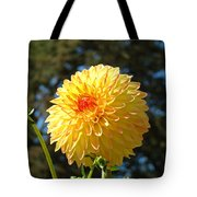 Bright Colorful Dahlia Flower Art Prints Baslee Troutman Tote Bag