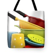 Bright Colorful Modern Kitchen Pot And Pans  Tote Bag