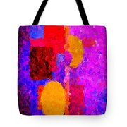 Bright Colours Abstract Tote Bag