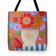 Bright Dahlias Tote Bag