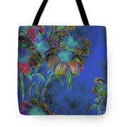 Bright Daisies In Blue Tote Bag