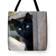 Bright Eyed Kitty Tote Bag
