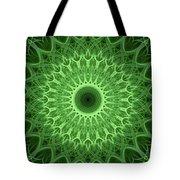 Bright Green Mandala Tote Bag
