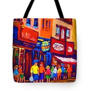 Bright Lights On The Main Tote Bag