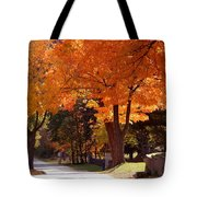 Bright Maple Morning Tote Bag