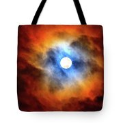 Bright Moon And Dark Clouds Tote Bag