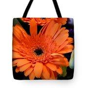 Bright Orange Daisy Tote Bag