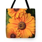 Bright Orange Flowers  Tote Bag