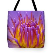 Bright Purple Lotus Tote Bag