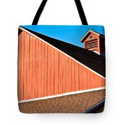 Bright Red Barn Tote Bag