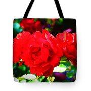 Bright Red Rose Tote Bag