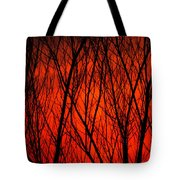 Bright Red Sunset Tote Bag