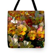 Bright Shining Faces Tote Bag