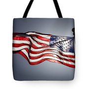 Bright Sun Highlights Old Glory Tote Bag