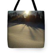 Bright Sun On Fresh Snow Tote Bag