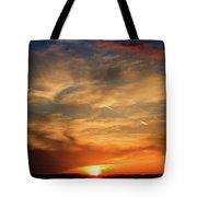Bright Sundown In Mountains Tote Bag