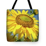 Bright Sunny Happy Yellow Sunflower 10 Sun Flowers Art Prints Baslee Troutman Tote Bag