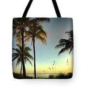 Bright Sunshine Greets The Palms Tote Bag