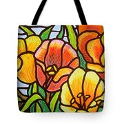 Bright Tulips Tote Bag