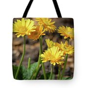 Bright Yellow Flowers  Tote Bag