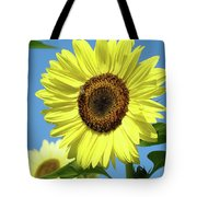 Bright Yellow Sunflower Art Prints Blue Sky Baslee Troutman Tote Bag