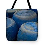 Brightly Colored Blue Barrels Tote Bag