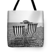 Brighton Deck Chairs Tote Bag