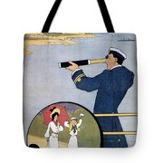 Brighton Railway, England - Isle Of Wight -  Retro Travel Advertising Poster - Vintage Poster  Tote Bag