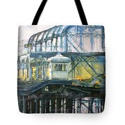 Brighton's West Pier-lone Survivor Tote Bag