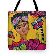 Brigit's Frida And Cat Tote Bag