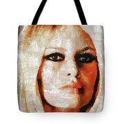 Brigitte Bardot By Mary Bassett Tote Bag