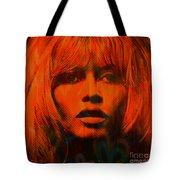 Brigitte Bardot Love Pop Art Tote Bag