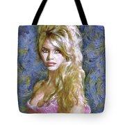 Brigitte Bardot Van Gogh Style Tote Bag