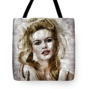Brigitte Bardot, Vintage Actress Tote Bag